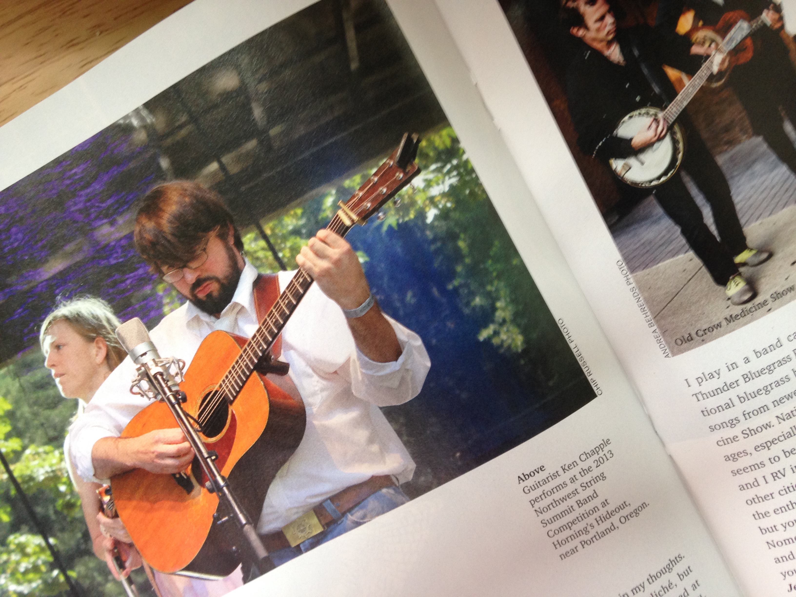 Ken In Acoustic Guitar Magazine, April 2015