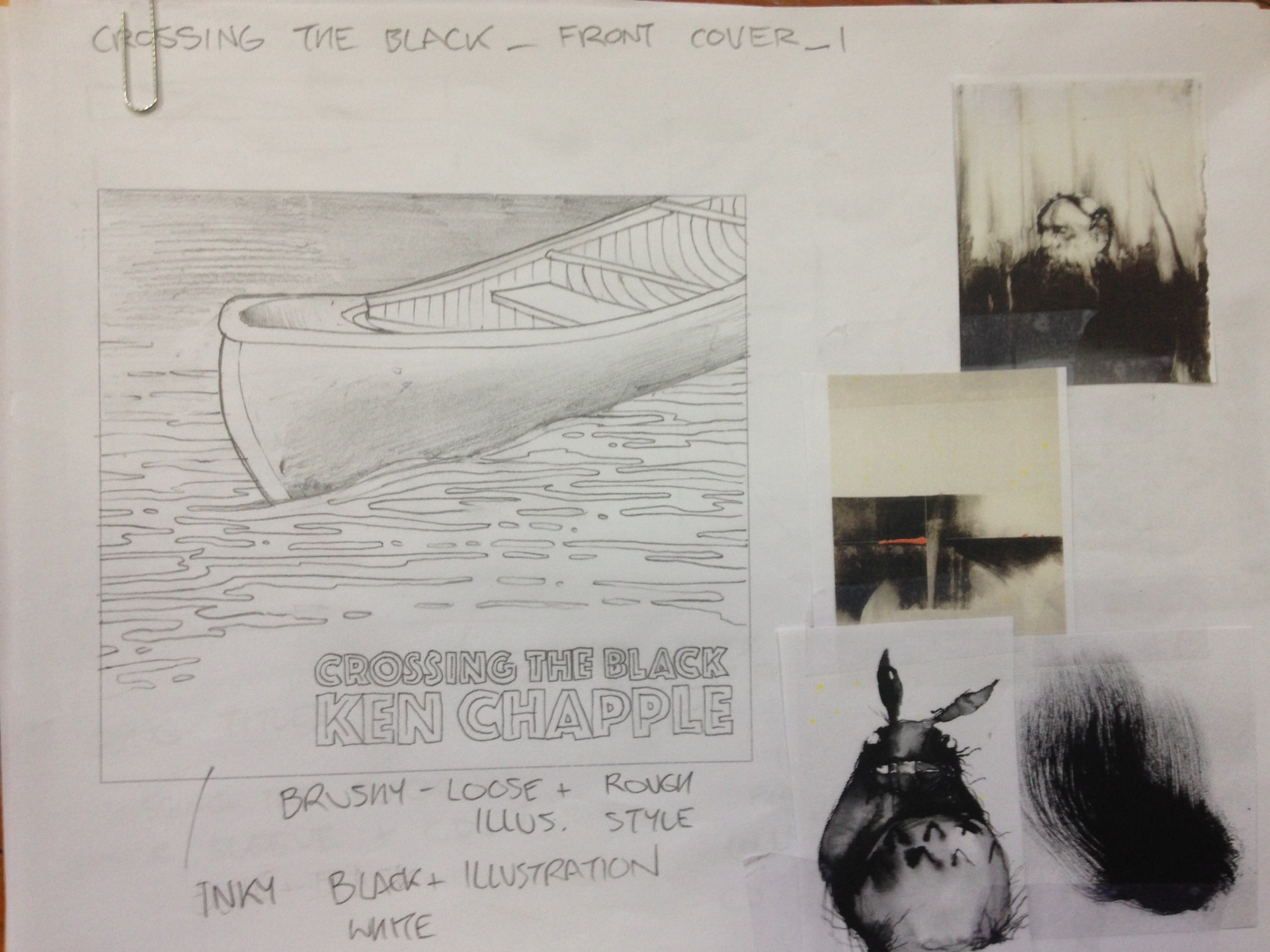 Crossing The Black Album Artwork Sketches